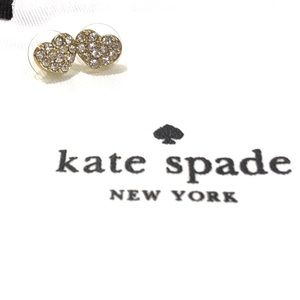 KATE SPADE 'Truly Yours' pave heart studs NWT